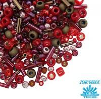 Бисер TOHO Beads Mix, цвет 3218 Samurai-Red/Brown, 10 грамм/упаковка 059059 - 99 бусин
