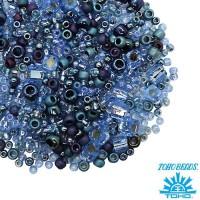Бисер TOHO Beads Mix, цвет 3204 Yumi - Periwinkle 10 грамм/упаковка 059061 - 99 бусин