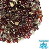 Бисер TOHO Beads Mix, цвет 3205 Ocha-Bronze, 10 грамм/упаковка 059063 - 99 бусин