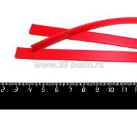 Шнур латексный ПЛОСКИЙ 10*2 мм, цвет красный, 3 отрезка по 18 см/упаковка 059076 - 99 бусин