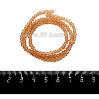 Бусины хрустальные на нити форма Рондель 3,5*2,5 мм цвет медовый, около 37 см нить/140 бусин 059099 - 99 бусин
