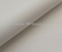 Экокожа, цвет белый, размер 20*14 см, толщина 0,9 мм, фактурность средняя, 1 лист 059110 - 99 бусин