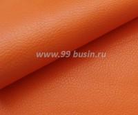 Экокожа, фактурность мелкая, размер 20*14 см, цвет оранжевый, толщина 0,8 мм, 1 лист 059115 - 99 бусин