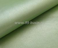 Экокожа, цвет жемчужный нежно-зеленый, размер 20*14 см,  толщина 0,8 мм, фактурность мелкая, 1 лист 059117 - 99 бусин