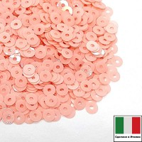 Пайетки 4 мм Италия плоские, цвет 3344 Rosa Baby Opaline 3 грамма (ок.900 штук) 059128 - 99 бусин