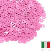 Пайетки 4 мм Италия плоские, цвет 3504 Rosa Fucsia Opaline 3 грамма (ок.900 штук) 059130 - 99 бусин