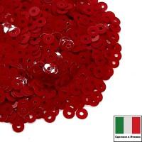 Пайетки 4 мм Италия плоские, цвет 4494 Rosso Scarlato Opaline 3 грамма (ок.900 штук) 059135 - 99 бусин