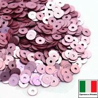 Пайетки 3 мм Италия плоские цвет 306W Rosa Satinato (Розовый сатин) 3 грамма (ок. 1600 штук) 059155 - 99 бусин