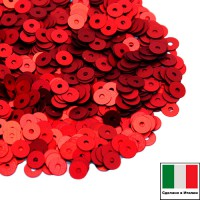 Пайетки 3 мм Италия плоские цвет 466W Rosso Satinato (Красный сатин) 3 грамма (ок. 1600 штук) 059158 - 99 бусин