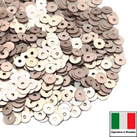 Пайетки 3 мм Италия плоские цвет 806W Oro Rosa Satinato (Розовое золото сатин) 3 грамма (ок. 1600 штук) 059164 - 99 бусин