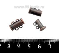 Замок магнитный Столбик 15 мм 2 петли, цвет медь, 1 штука 059190 - 99 бусин