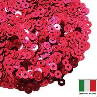 Пайетки 3 мм Италия плоские цвет 5511 Rosso Cillegia Metallizzati (Вишневый металлик) 3 грамма (ок. 1600 штук) 059204 - 99 бусин