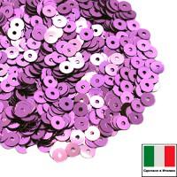 Пайетки 3 мм Италия плоские цвет 5031 Lilla Metallizzati ( Лиловый металлик) 3 грамма (ок.1600 штук) 059205 - 99 бусин