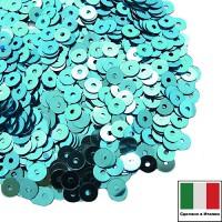 Пайетки 3 мм Италия плоские цвет 6111 Azurro Metallizzati 3 грамма (ок. 1600 штук) 059210 - 99 бусин