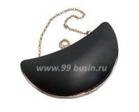 Основа для клатча Полумесяц, 23*11*5,7 см, фурнитура светлое золото, застежка - акриловая жемчужина/стразы, цепочка, 1 штука 059227 - 99 бусин