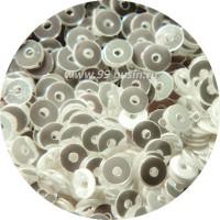 ОПТ Мини пайетки плоские 2,5 мм № 331 Show White Colour Crystal Finish Sequins Индия 30 грамм/упаковка 059325 - 99 бусин