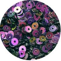 ОПТ Мини пайетки плоские 3 мм Purple Color Crystal Finish Sequins № 328 Индия 30 грамм/упаковка 059326 - 99 бусин