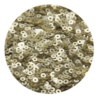 ОПТ Пайетки плоские 4 мм Light Gold Velvet Finish №830 Индия 30 грамм 059351 - 99 бусин