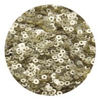 ОПТ Пайетки плоские 3 мм Light Gold Velvet Finish №830 Индия 30 грамм 059352 - 99 бусин