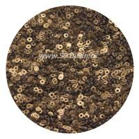 ОПТ Пайетки плоские 3 мм Antique Gold Color Pearl Finish № 829 Индия 30 грамм 059361 - 99 бусин
