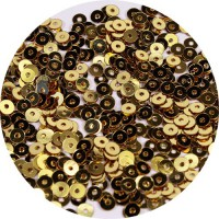 ОПТ Мини пайетки плоские 4 мм Dark Gold Color № 828 Индия 30 грамм 059363 - 99 бусин