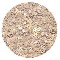 ОПТ Мини пайетки плоские 3 мм White Gold № 396 Индия 30 грамм 059368 - 99 бусин