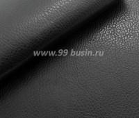 Экокожа, цвет черный, размер 20*14 см,  толщина 1 мм, фактурность мелкая, 1 лист 059381 - 99 бусин
