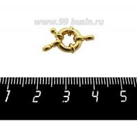 Замок-кольцо 11 мм на 1 нить, цвет золото 1 штука 059393 - 99 бусин