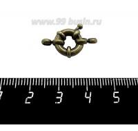 Замок-кольцо 11 мм на 1 нить, цвет бронза 1 штука 059394 - 99 бусин