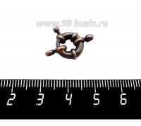 Замок-кольцо 11 мм на 1 нить, цвет медь 1 штука 059395 - 99 бусин