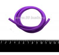 Шнур латексный полый 4 мм цвет ярко-фиолетовый 1 метр/упаковка 059403 - 99 бусин