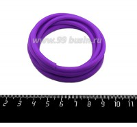 Шнур латексный полый 5 мм цвет ярко-фиолетовый 1 метр/упаковка 059404 - 99 бусин