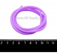 Шнур латексный полый 4 мм цвет сиреневый 1 метр/упаковка 059406 - 99 бусин
