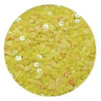 ОПТ Мини пайетки плоские 2,5 мм Aurora Yellow  № 821 Индия 30 грамм/упаковка 059421 - 99 бусин