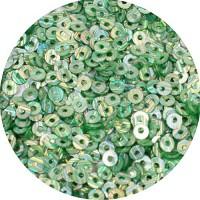 ОПТ Пайетки плоские 2,5 мм Neptune Green № 838 Индия 30 грамм/упаковка 059435 - 99 бусин