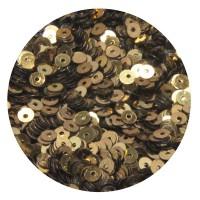 ОПТ Мини пайетки плоские 2,5 мм Antique Gold Color Crystal finish № 389 Индия 30 грамм/упаковка 059478 - 99 бусин
