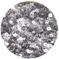 ОПТ Мини пайетки плоские 3 мм Silver Color Crystal Finish № 378 Индия 30 грамм/упаковка 059481 - 99 бусин