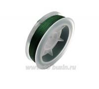 Нить для бисера Титан-100 цвет зелёный насыщеный 2592 катушка 100 метров, толщина 0,1 мм полиэстер 100% 059542 - 99 бусин