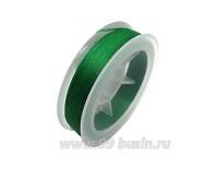 Нить для бисера Титан-100 цвет зелёная трава 2590 катушка 100 метров, толщина 0,1 мм полиэстер 100% 059543 - 99 бусин