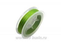 Нить для бисера Титан-100 цвет зелёный светлый 2707 катушка 100 метров, толщина 0,1 мм полиэстер 100% 059544 - 99 бусин