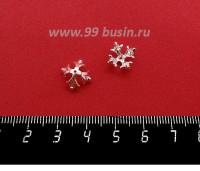Шапочка для бусин ювелирная Королевская 10*6 мм, для бусины диаметром 8 мм, посеребрение 12 мкн, 1 штука 059560 - 99 бусин