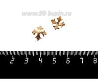 Шапочка для бусин ювелирная Королевская 10*6 мм, для бусины диаметром 8 мм, позолота 0,45 мк, 1 штука 059562 - 99 бусин