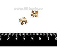 Шапочка для бусин ювелирная Королевская с Фианитами 10*6 мм, для бусины диаметром 8 мм, позолота 0,45 мк, 1 штука 059565 - 99 бусин