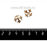 Шапочка для бусин ювелирная Королевская 12*7 мм, для бусины диаметром 10 мм, позолота 0,45 мк, 1 штука 059568 - 99 бусин
