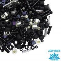Бисер TOHO Beads Mix, цвет 3225 Yozora-Jet/Silver, 10 грамм/упаковка 059586 - 99 бусин