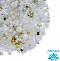 Бисер TOHO Beads Mix, цвет 3212 Hasu-White, 10 грамм/упаковка 059587 - 99 бусин
