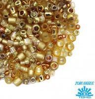 Бисер TOHO Beads Mix, цвет 3206 Kintaro - Gold, 10 грамм/упаковка 059589 - 99 бусин