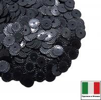 Пайетки 5 мм Италия рифлёные плоские  цвет 9131 Chiaro luna Metallizzato (Свет луны металлик) 3 грамма 059620 - 99 бусин