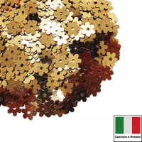 Пайетки 5 мм Италия Цветочки цвет 2011 Oro Metallizzato (античное золото металлик) 3 грамма 059621 - 99 бусин