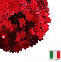 Пайетки 5 мм Италия Цветочки 4061 Rosso Metallizzati 3 грамма 059622 - 99 бусин